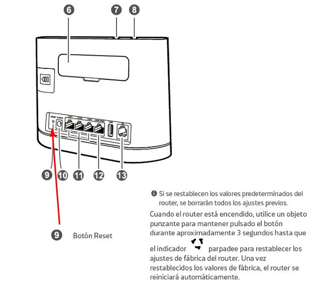 Reset Huawei B315