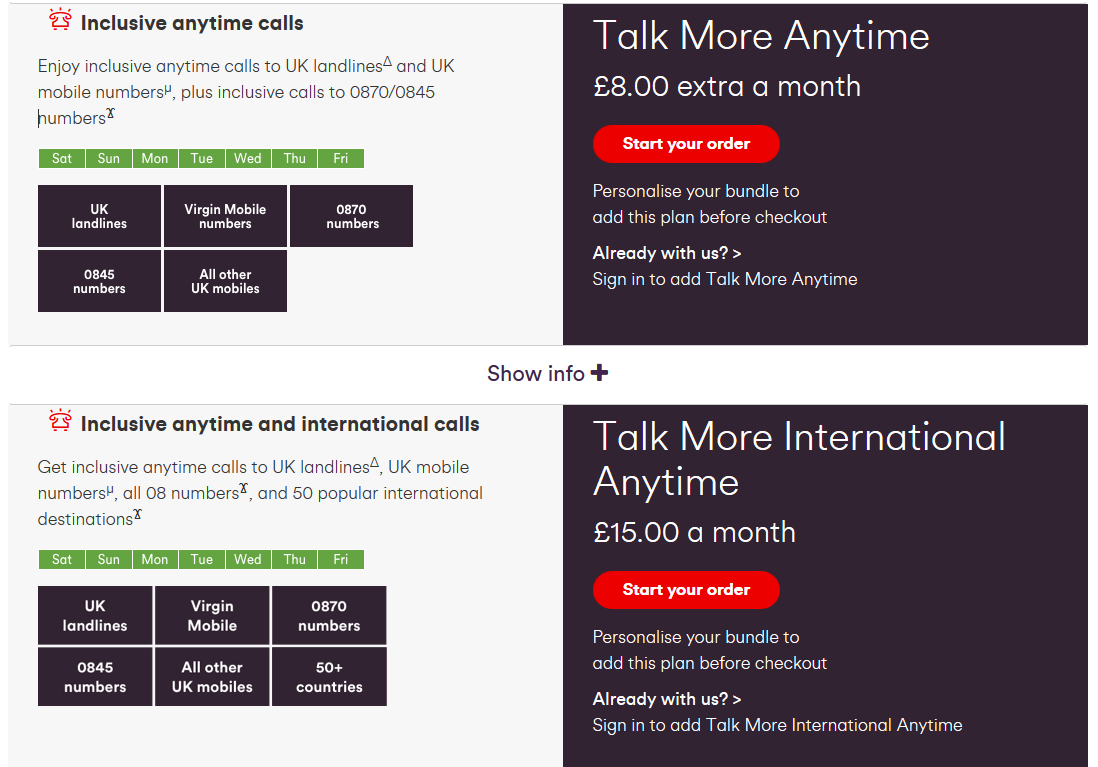 Virgin Talk Anytime calls to mobiles - Virgin Media